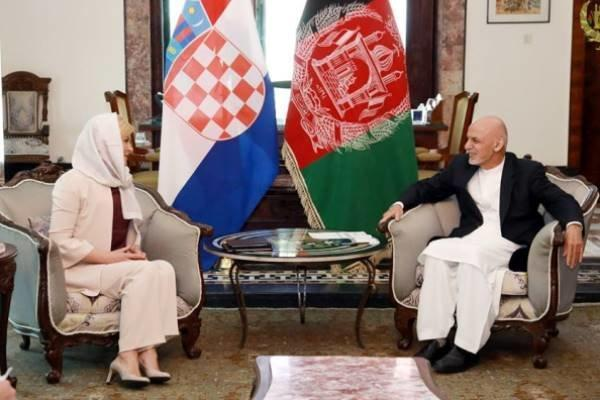 دیدار رئیس جمهوری کرواسی با همتای افغانستانی خود در کابل