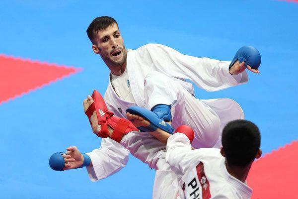 مهدیزاده برای کسب مدال برنز کوشش می نماید، چهار کاراته کا حذف شدند