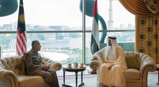 دیدار ولیعهد ابوظبی با نخست وزیر مالزی