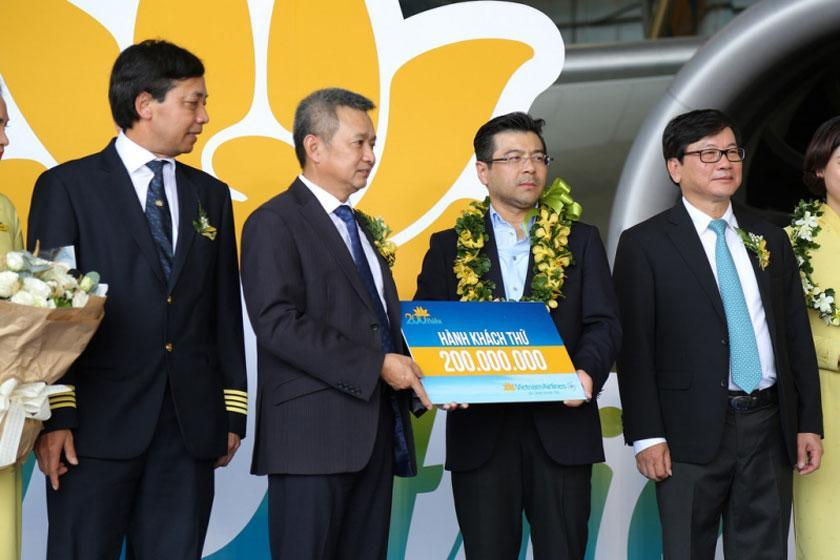 دستیابی هواپیمایی ویتنام به رکورد 200 میلیون نفری انتقال مسافر