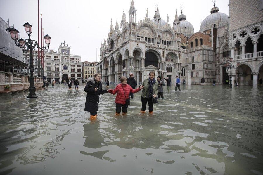 فیلم ، بدترین سیلاب 50 سال اخیر در ونیز ایتالیا