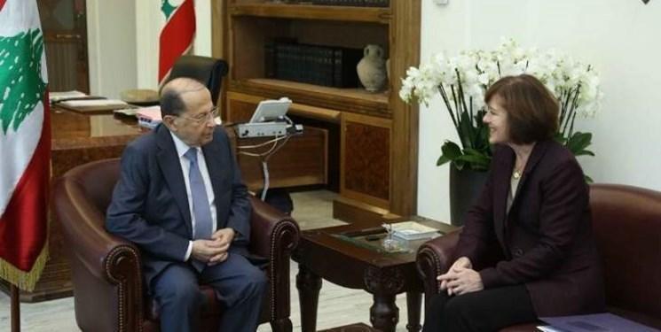 دیدار خداحافظی سفیر آمریکا با رئیس جمهور لبنان
