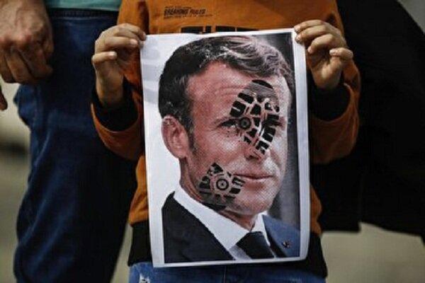 وحشت ماکرون از تحریم کالاهای فرانسوی