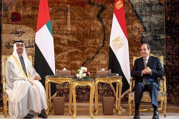 رایزنی رئیس جمهور مصر با ولیعهد ابوظبی در قاهره