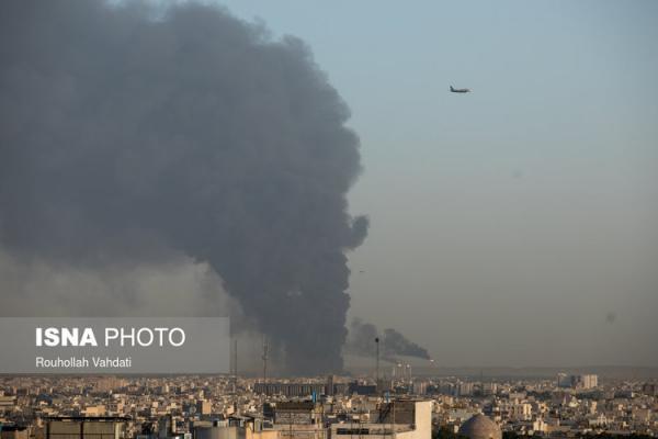 (ویدئو) آتش سوزی در پالایشگاه تهران