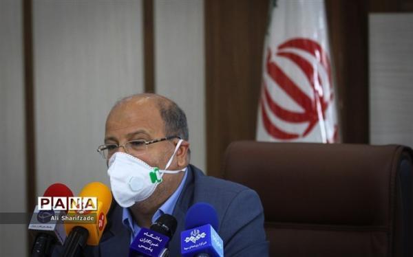 زالی: شرایط کرونا در تهران شکننده است