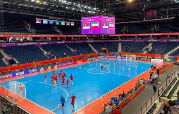 پیروزی یک نیمه ای تیم ملی فوتسال ایران مقابل صربستان