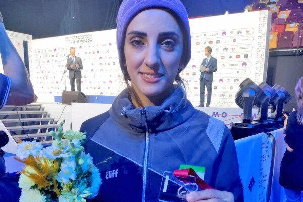 سنگنورد دختر ایرانی مدال برنز دنیا را به گردن آویخت